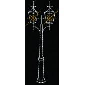 13 1/2' VICTORIAN DOUBLE LAMP