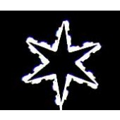 2 1/2' Silhouette Six Point Star Tree Topper