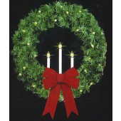 "52"" RMP Tri-Candle Wreath"