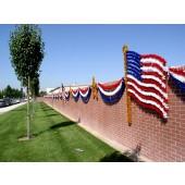6' X 40' USA  FLAG AND STARS SKYLINE