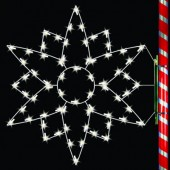 5' SILHOUETTE EDELWEISS SNOWFLAKE