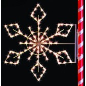 5-1/2' SILHOUETTE CRYSTAL SNOWFLAKE