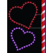 6' SILHOUETTE DOUBLE HEARTS