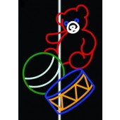12' BEAR, BALL, AND DRUM