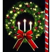 4' OREGONIAN TRI-CANDLE WREATH