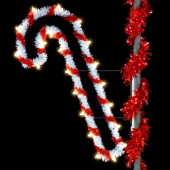 5' SPARKLING CANDY CANE