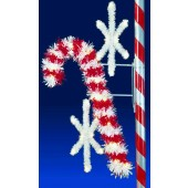 7 1/2' STARBRIGHT CANDY CANE