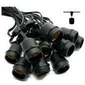 E27 Light String - Black