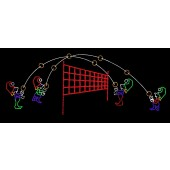 20' x 57' ELVES PLAYING VOLLEYBALL