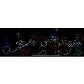11' x 28' ELVES WASHING SLEIGH