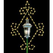 7' SILHOUETTE FLUER-DI-LIS LAMP COVER