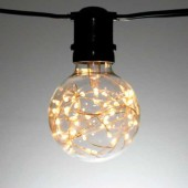 G80 GLOBE 50 LIGHT LED FAIRY LAMPS, TWINKLE, SMOOTH PLASTIC
