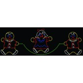7' x 22' GINGERBREAD CHILDREN JUMPING ROPE