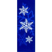LARGE BLUE AND WHITE SNOWFLAKES