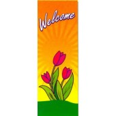 WELCOME WITH TULIPS AND SUN