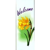 WELCOME WITH YELLOW DAFFODIL