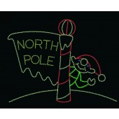 20' X 26' NORTH POLE w/WAVING ELF - ANIMATED