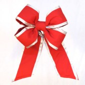 Outdura Red Bow with Silver Accent