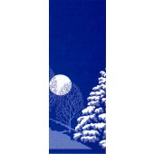 WINTER SCENE TREES & MOON
