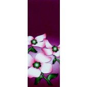 DOGWOOD FLOWERS WITH PURPLE BACKGROUND