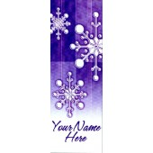 TORN PAPER SNOWFLAKES / PURPLE BACKGROUND