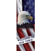 OUR TOWN FLAG & EAGLE